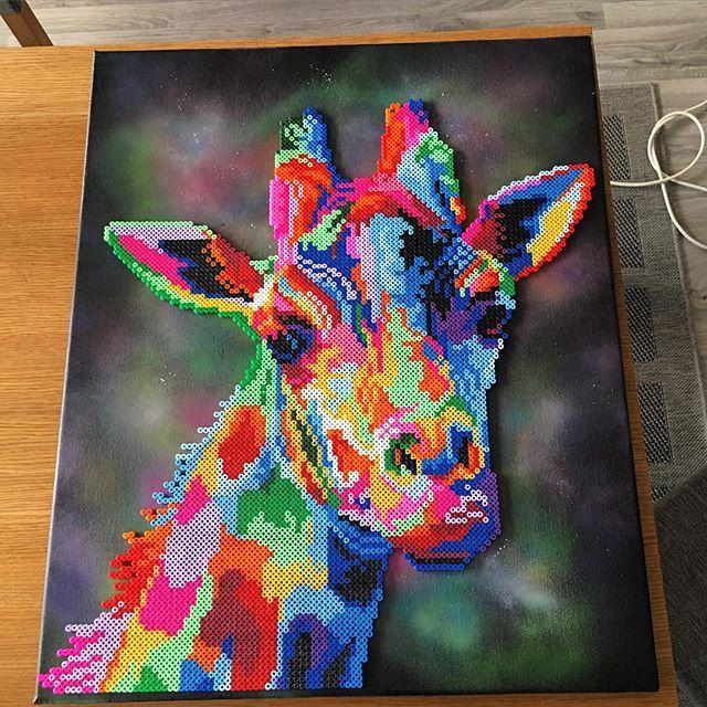 Perler Bead 3d Giraffe Youtube