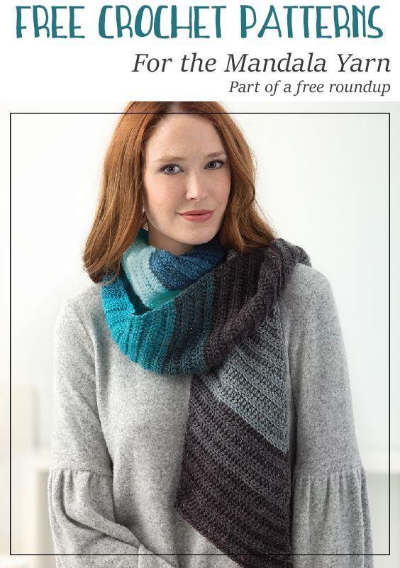 Free Crochet Patterns For The Mandala Yarn By Lion Brand Yarns
