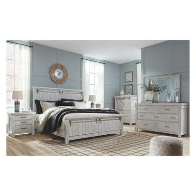 Best Brashland Five Drawer Chest White Signature Design By 640 x 480