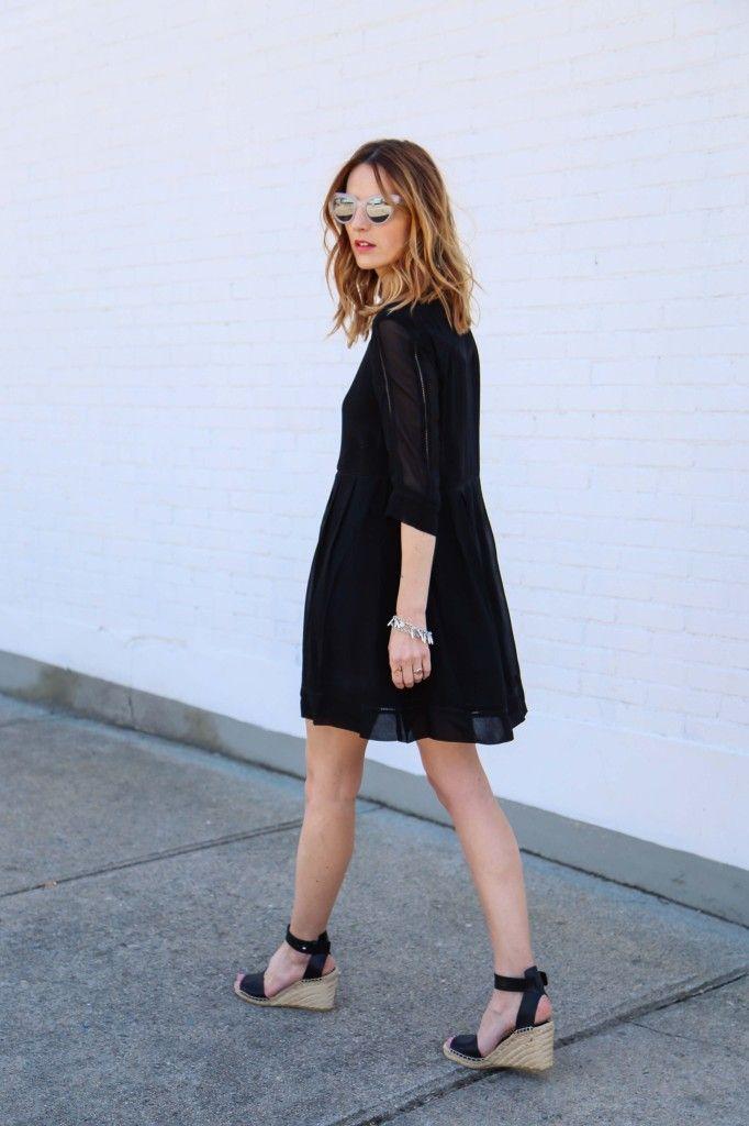 2538453dc6aa2 Little Black Dress and Vince Espadrille Sandals