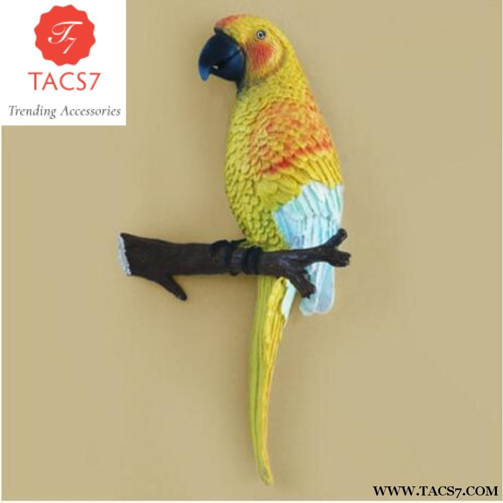 Fine Pastoral 3D three-dimensional parrot decorative wall hook up ...