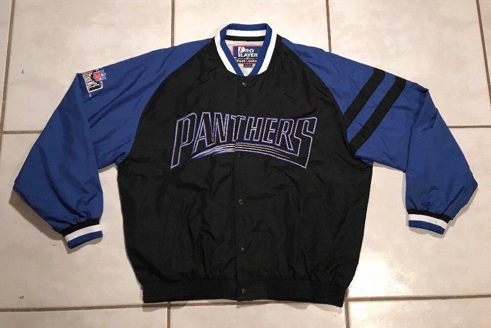 Rare Vintage PRO PLAYER Carolina Panthers NFL Jacket Men's