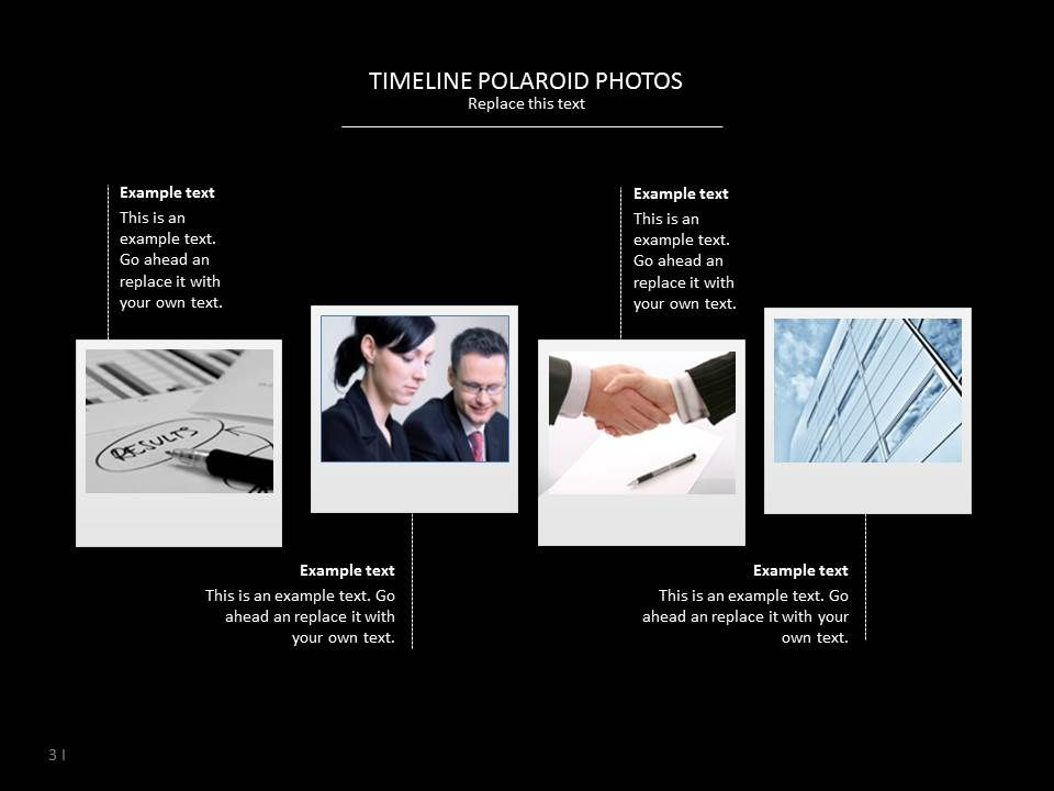 check this timeline polaroid slide for your presentation timeline