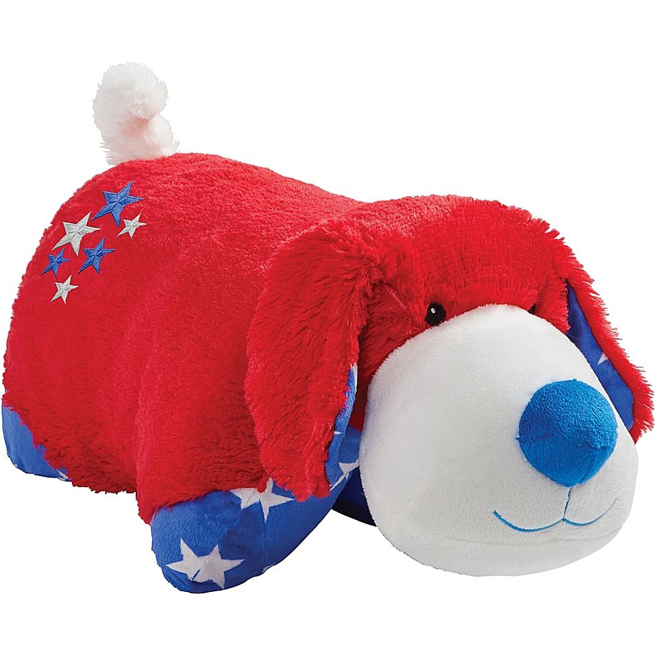Pillow Pets Americana Red Puppy Pillow Pet In Red Animal Pillows