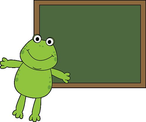 Frog and Chalkboard