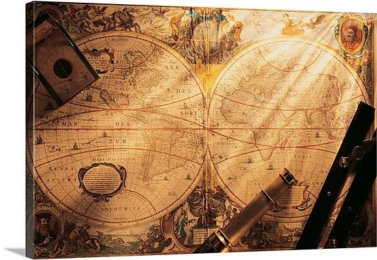 Old fashion world map with navigational tools on top kids rooms old fashion world map with navigational tools on top gumiabroncs Gallery