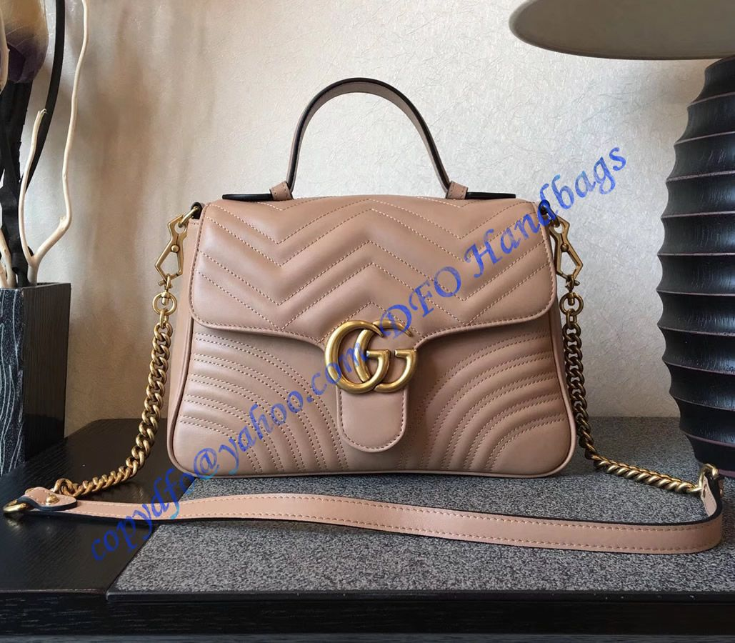 014beff43f7 Shop Online a Gucci GG Marmont small Tan top handle bag at cheap price- USD  380. Free Worldwide Shipping to your door.