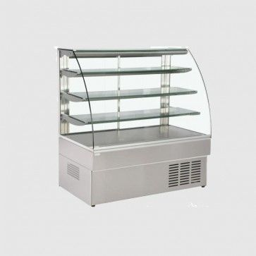 Trimco 1175mm Wide Patisserie Serve Over Counter: ZURICH 120 SS