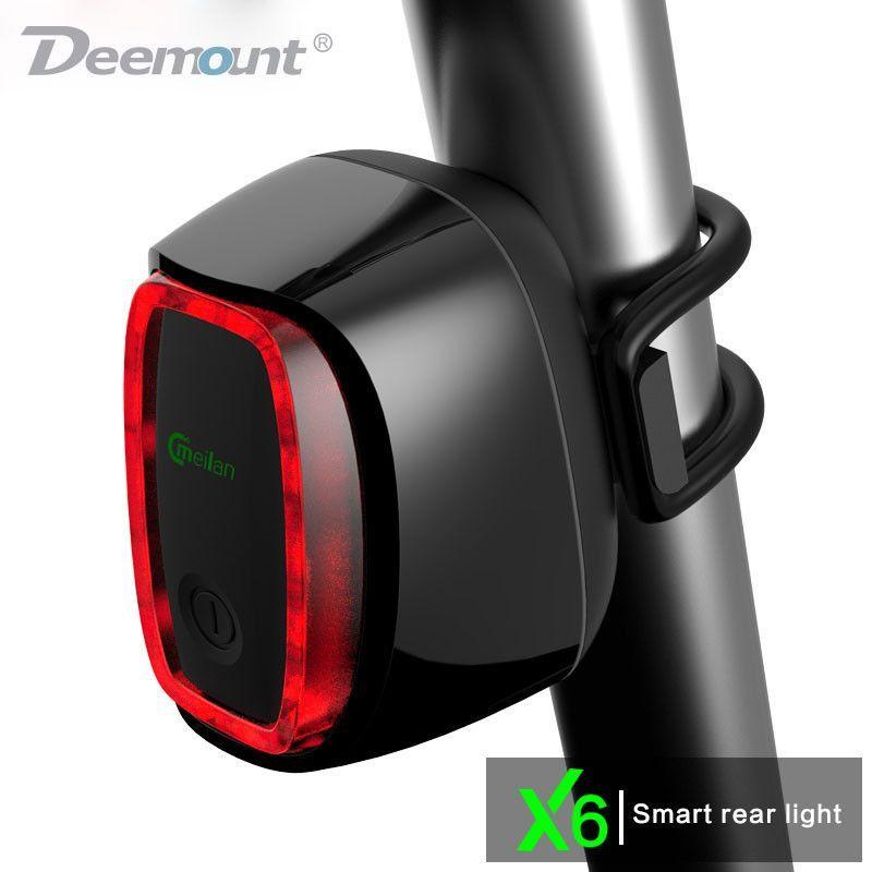 Bicycle Bike Smart Light Battery Powered Flashing Red Light NEW!