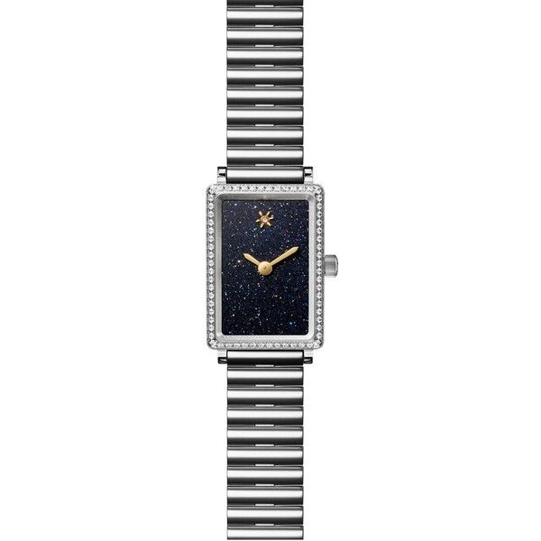 Women's Gomelsky The Shirley Fromer Diamond Bracelet Watch, 18Mm X... ($1,850) ❤ liked on Polyvore featuring jewelry, watches, diamond bracelet watch, glitter jewelry, diamond jewelry, rectangular watches and diamond dial watches