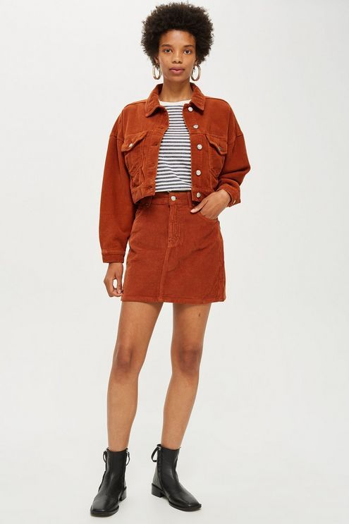 e23209e09b Red Corduroy Jacket and Skirt Set | Outfit Inspo in 2019 | Corduroy ...
