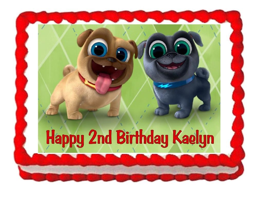 Puppy Dog Pals Edible Cake Image Cake Topper Frosting Sheet Decoration Childrens Birthday Cakes Edible Image Cake Edible Cake