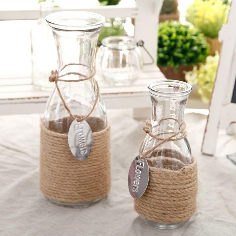 Jarrones decorativos originales y modernos ideas de for Jarrones de vidrio decorados