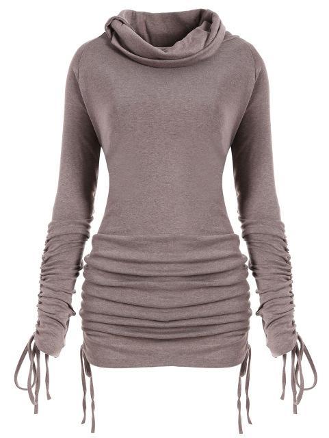 147bd67f08 Womens Turtleneck Sweatshirts Long Sleeve Pullovers Casual Plus Size  Convertible Long Sweatshirt