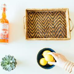 Banana Leaf Stacking Trays: Chevron Interior + a lovely Triple Zig-Zag Bracelet, captured by our friends at Malena