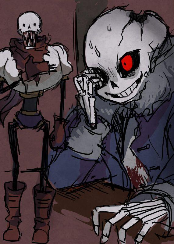 Horrortale Sans And Papyrus Horrortale Horror Sans Undertale