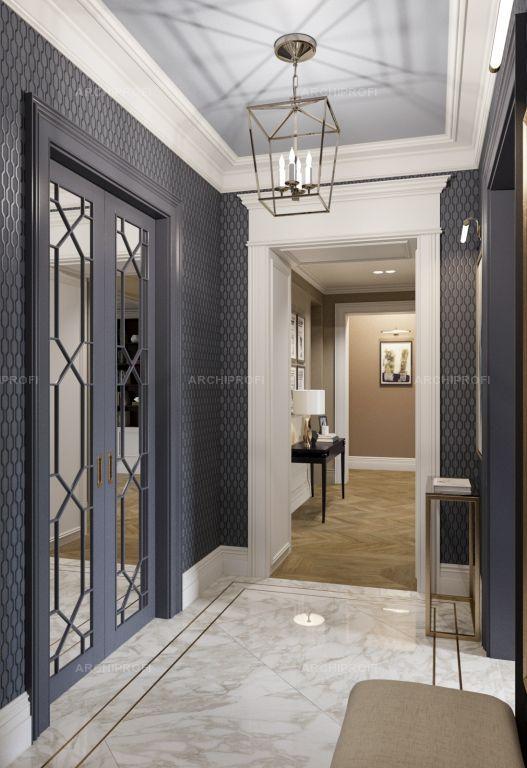 Проект квартиры в ЖК Донской Олимп, Дизайнер, Анна Васильева #hallway