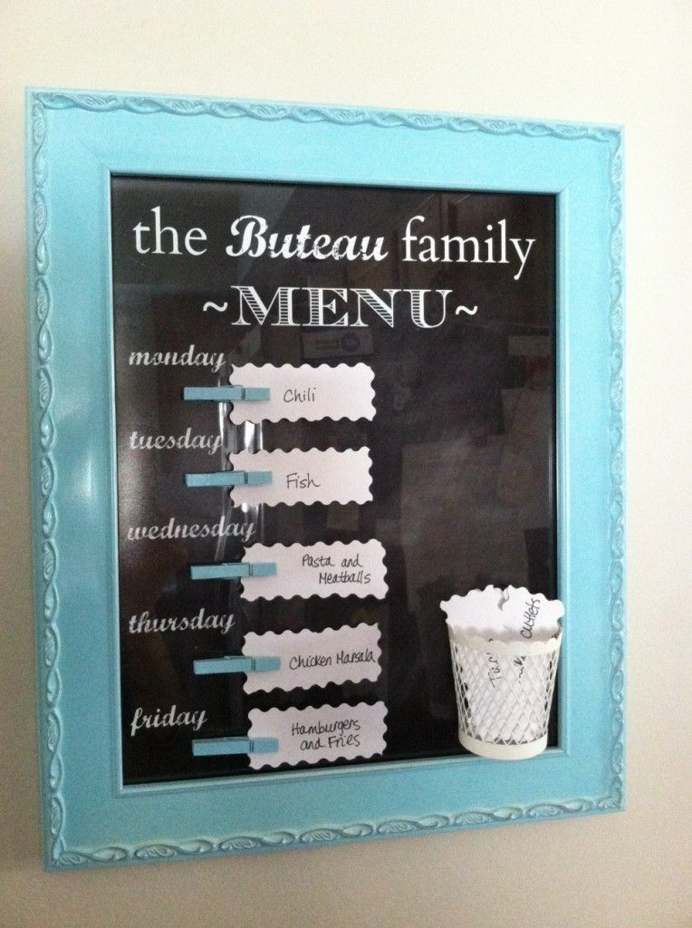 Get crafty, get organized with a family menu board – The Mod Mommy