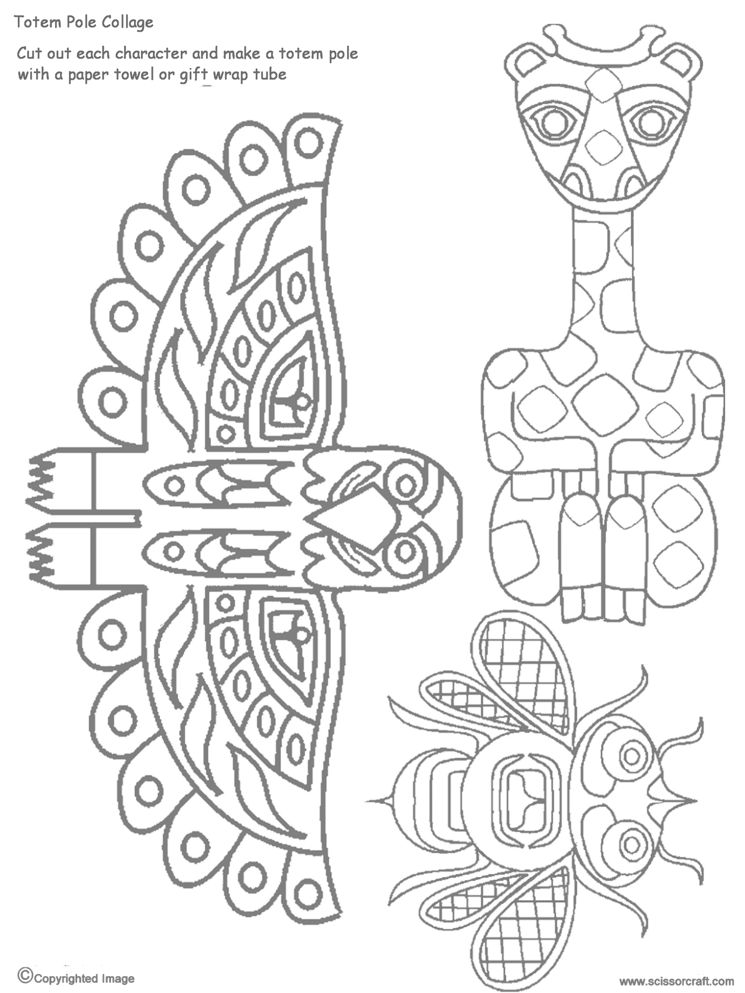 Totem Pole Collage Pieces