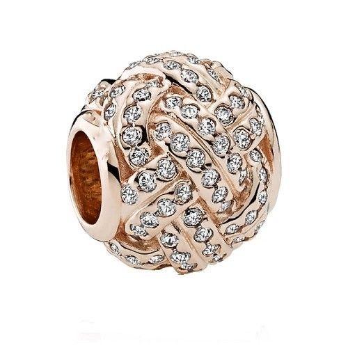 3e2783194 $13.99 - Rose Gold Cz Love Knot - Plated European Charm Bead Rg1 #ebay  #Fashion