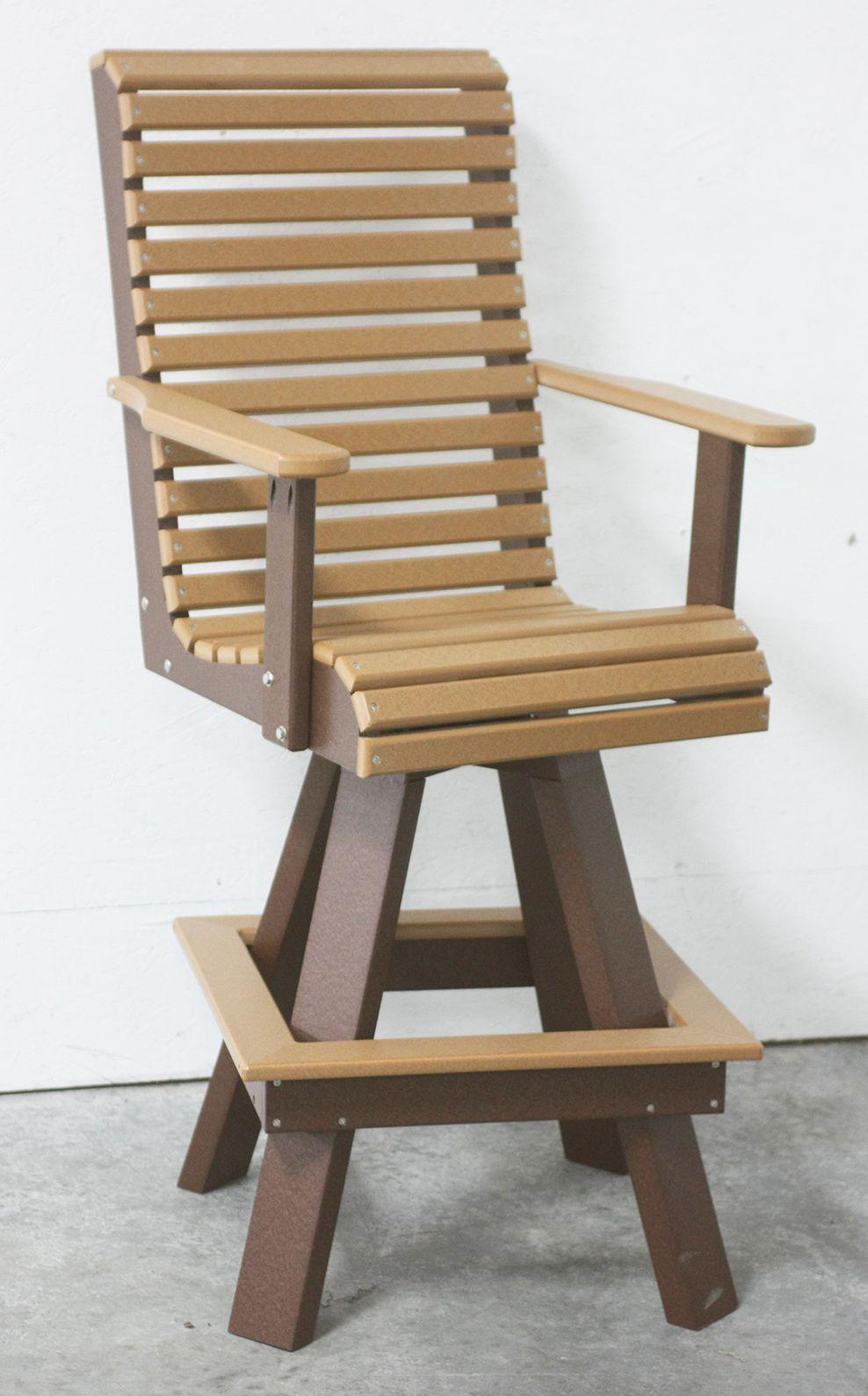Best 4'Rollback Bar Chair Pictured In Cedar Brown Round 400 x 300
