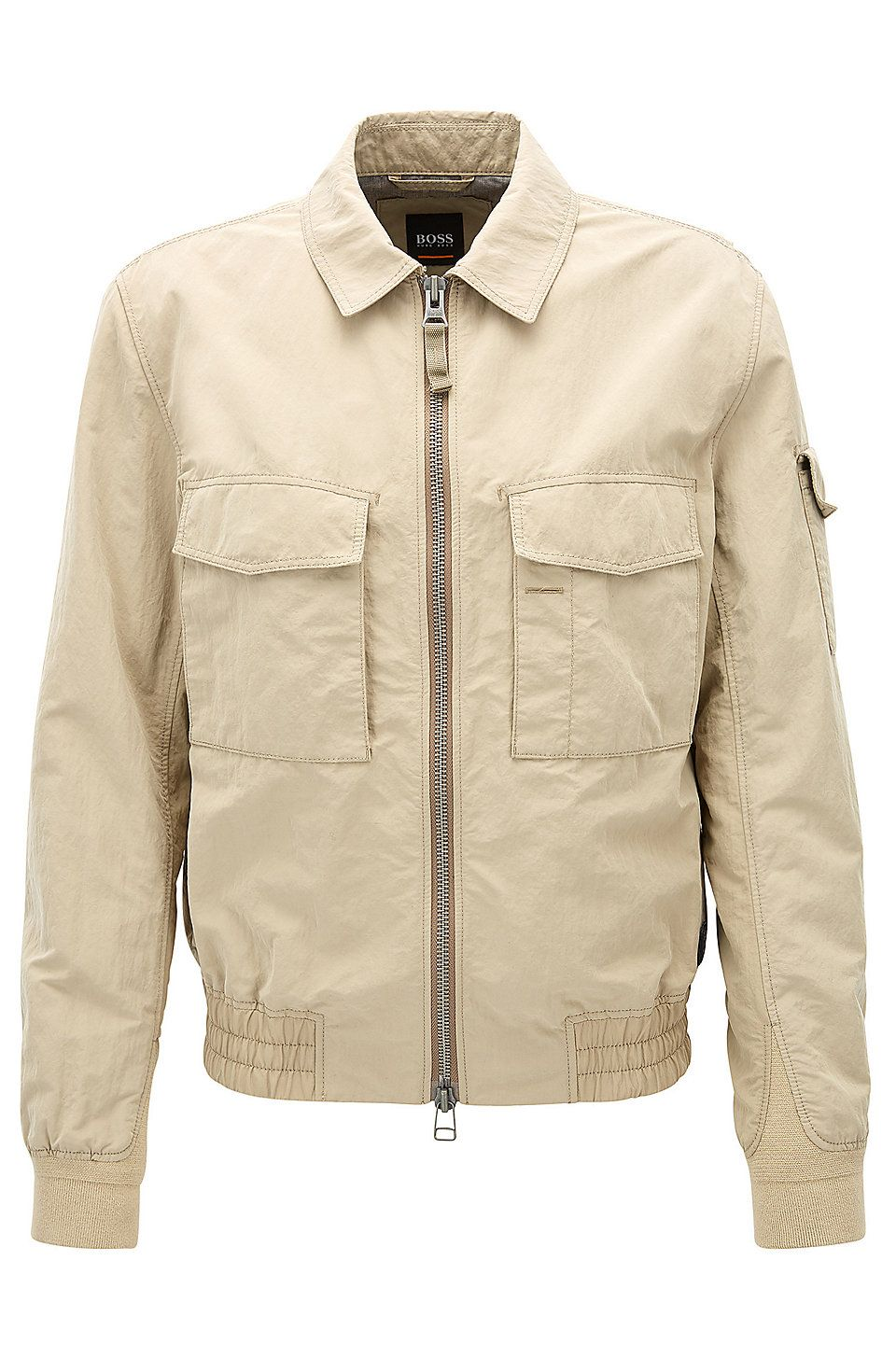 Hugo Boss Regular Fit Jacket In Two Tone Technical Fabric Beige Casual Jackets From Boss For Men In The Official Hugo Bo Jackets Workout Jacket Casual Jacket [ 1456 x 960 Pixel ]
