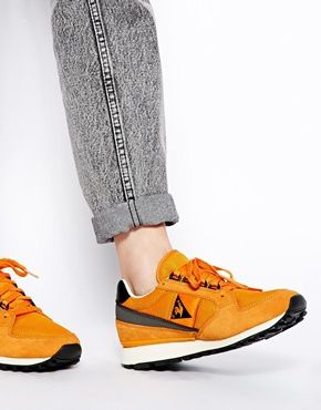 Le Coq Sportif Le Coq Sportif Eclat 89 Orange Sneakers At Asos Sneakers Sneaker Outfits Women Orange Sneakers
