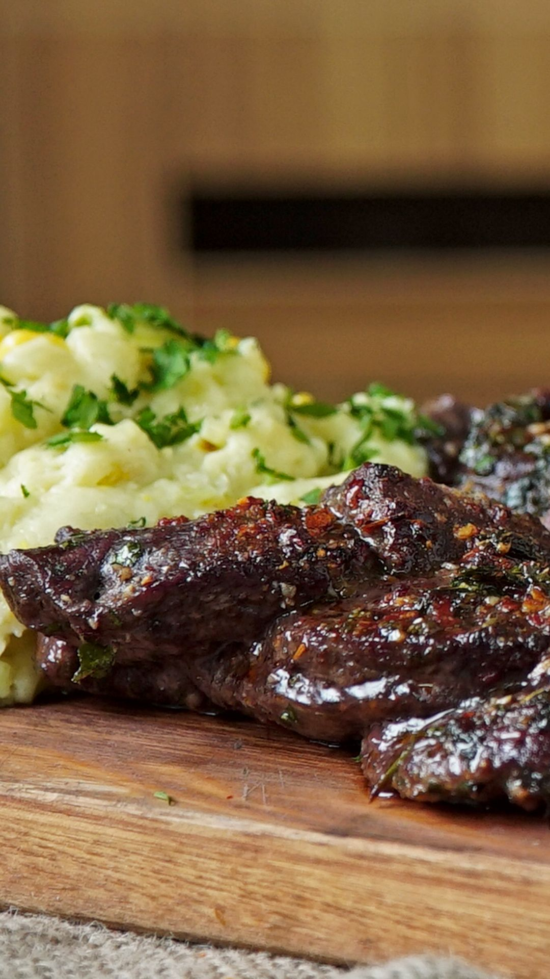 Braided Skirt Steak Thinly sliced and packed with