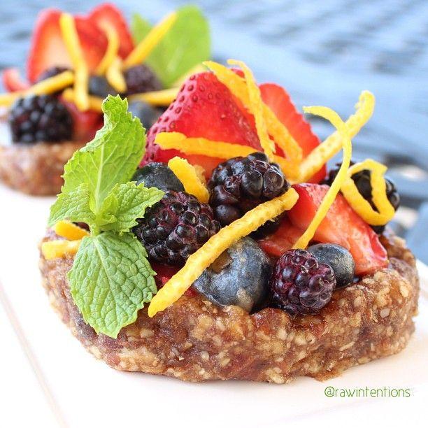Zesty raw berry tarts