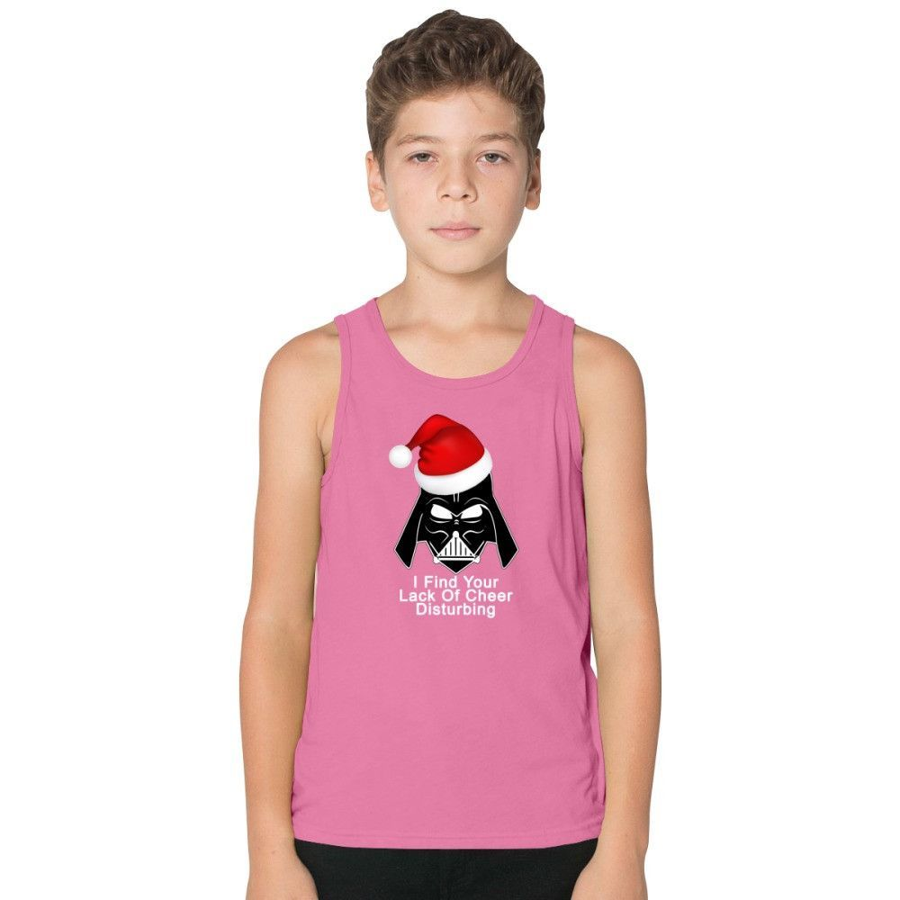 I Find Your Lack Of Cheer Disturbing Darth Vader Christmas Funny Kids Tank Top