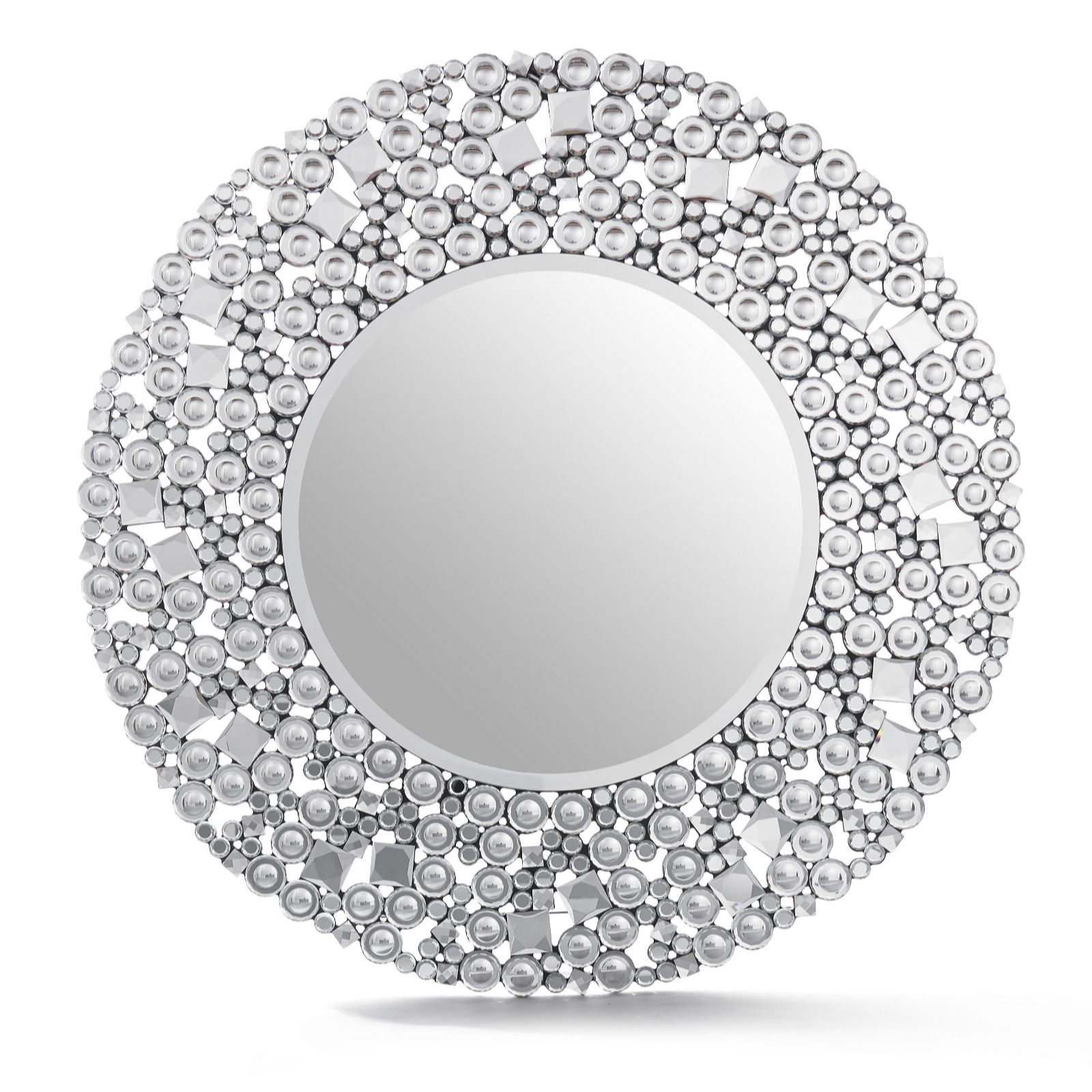 Large Round Silver Mirror Part - 38: 804953 JM By Julien Macdonald Signature Circular Crystal Mirror QVC PRICE:  £366.00 INTRODUCTORY PRICE