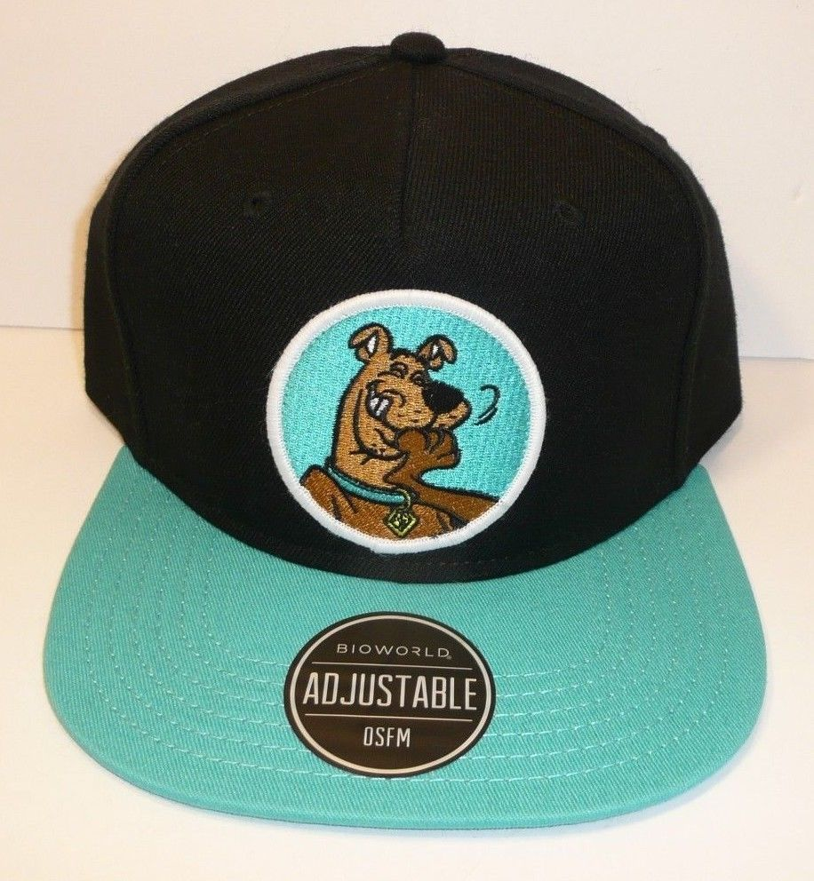 2ab477276 Scooby Doo Adjustable Snapback Hat Cap Black Patch Hanna Barbera Dog ...