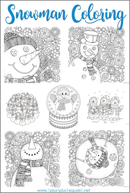 Snowman Coloring | I love being a teacher! | Pinterest | Colegios ...
