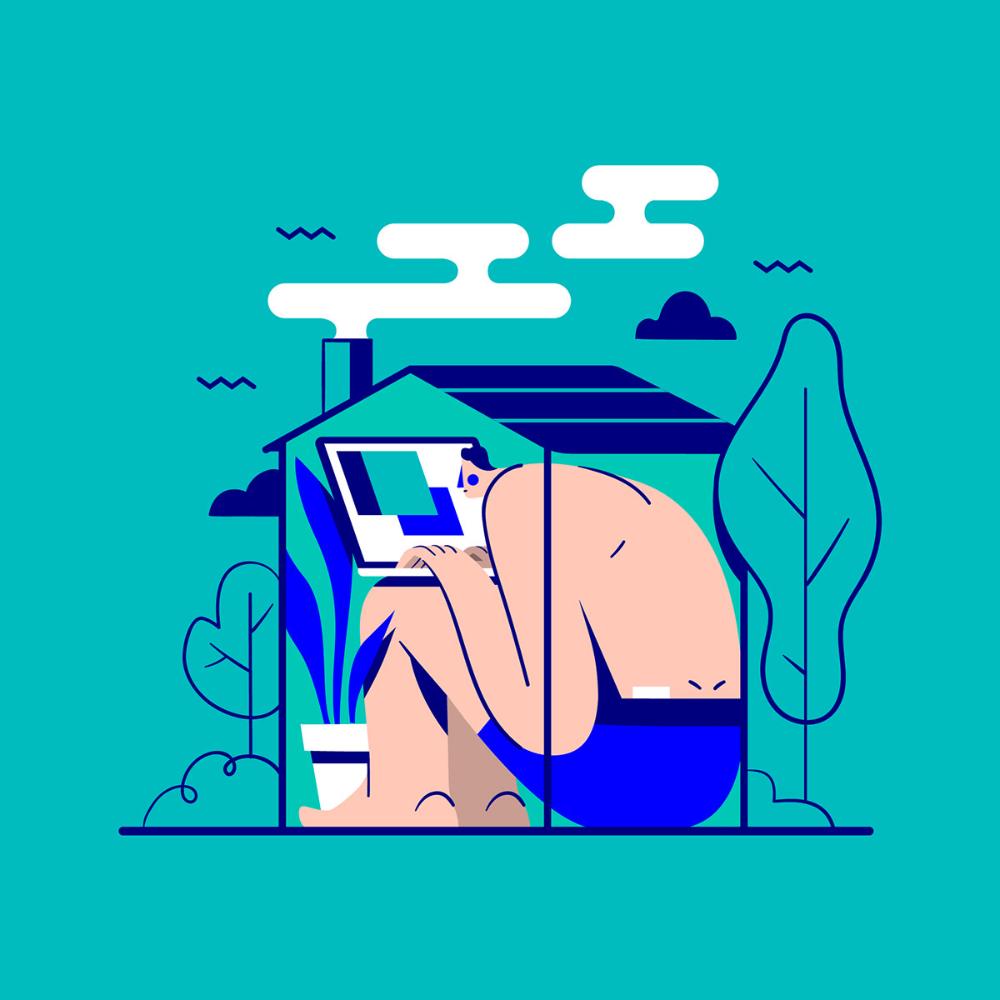 Gasp art on Behance in 2020 Illustration, Dribbble