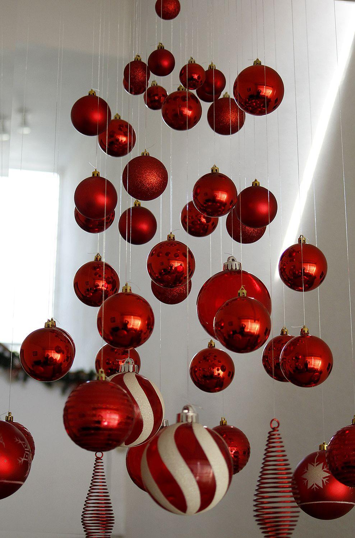 Diy Adorno Colgante Con Esferas Bricolaje De Adornos De Navidad Cosas De Navidad Diy Adornos