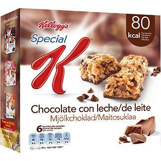 KELLOGG'S SPECIAL K barritas de cereales con chocolate con leche 1 barrita - 2 puntos