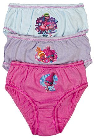 21dc1959689 Girls Trolls 3 Pack Briefs Knickers Toddlers Underwear Poppy 3 Pairs Pants  Kids Size   Present ideas for Maya   Pinterest   Underwear, Toddler  underwear and ...
