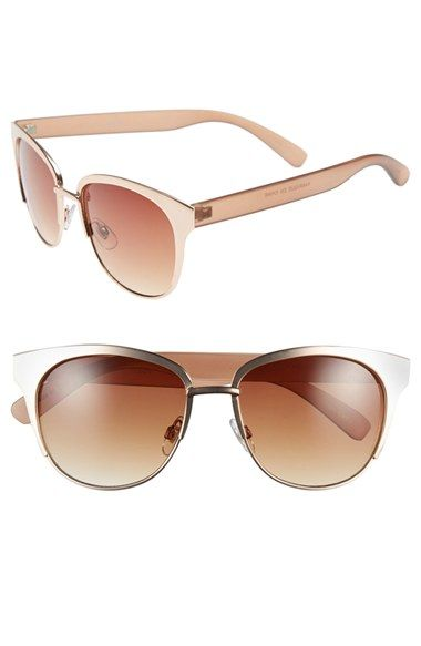Free shipping and returns on Tildon 52mm Metal Cat Eye Sunglasses at Nordstrom.com. Brushed metal cat-eye frames perfectly blend vintage and modern style on lightweight sunglasses that offer full sun protection.