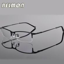 1292d046f9 Spectacle Frame Eyeglasses Men Computer Optical Titanium Eye Glasses For  Male Transparent Clear Lens Armacao Oculos de RS270(China (Mainland))