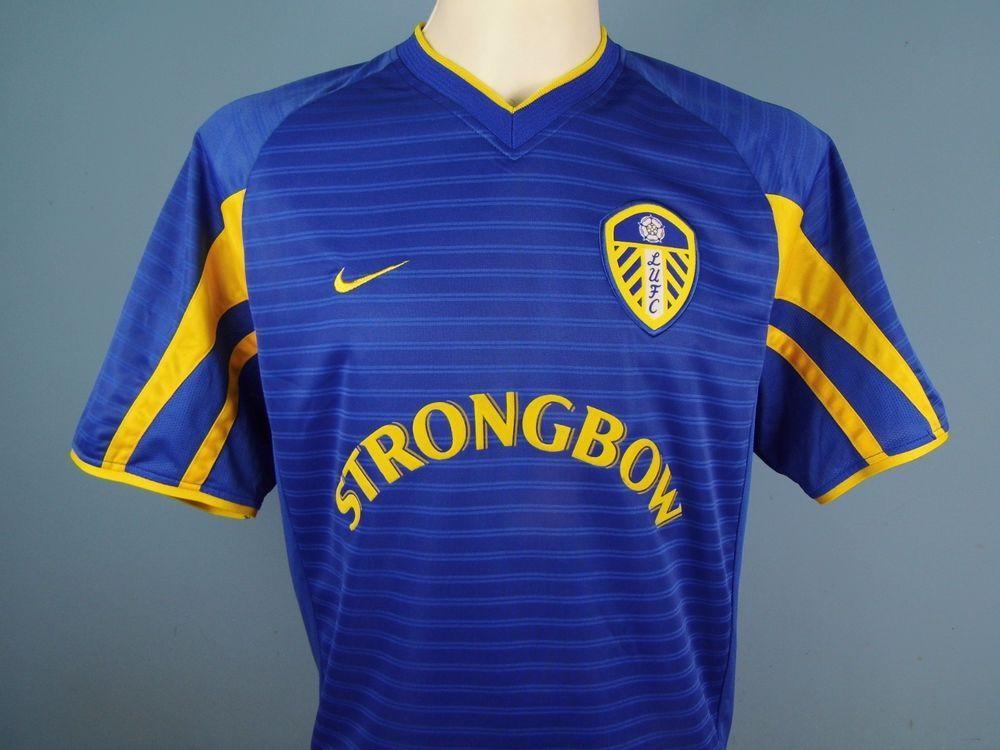 a4d1db0b5 Authentic Leeds United 2001-03 Away Shirt Size Medium Nike Strongbow Blue