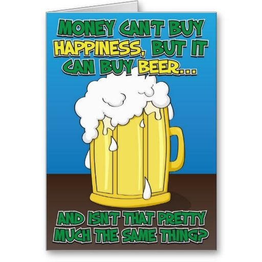 Funny Birthday Card For Man Beer Birthday Cards For