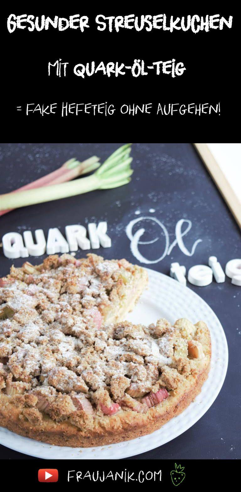Gesunder Streuselkuchen mit Quark-Öl-Teig - Frau Janik