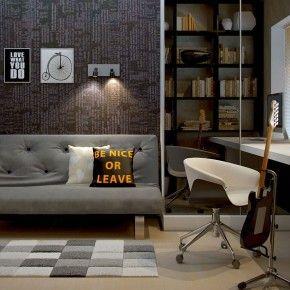 Cool masculine home office interior design ideas also rh pinterest