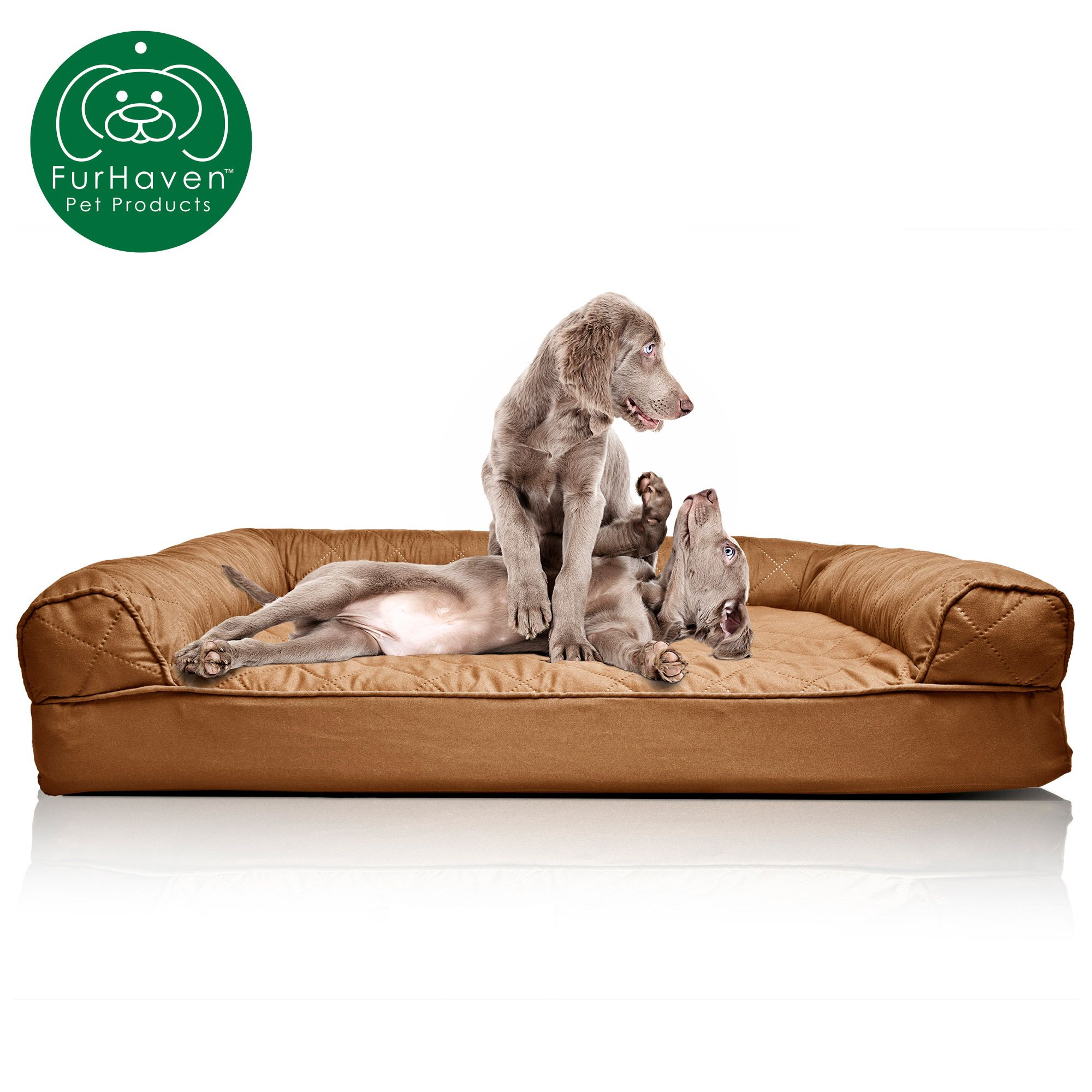 Furhaven Pet Dog Bed Orthopedic Quilted Sofa Style Couch Pet Bed For Dogs Cats Toasted Brown Jumbo Walmart Com Dog Pet Beds Orthopedic Dog Bed Comfiest Dog Bed