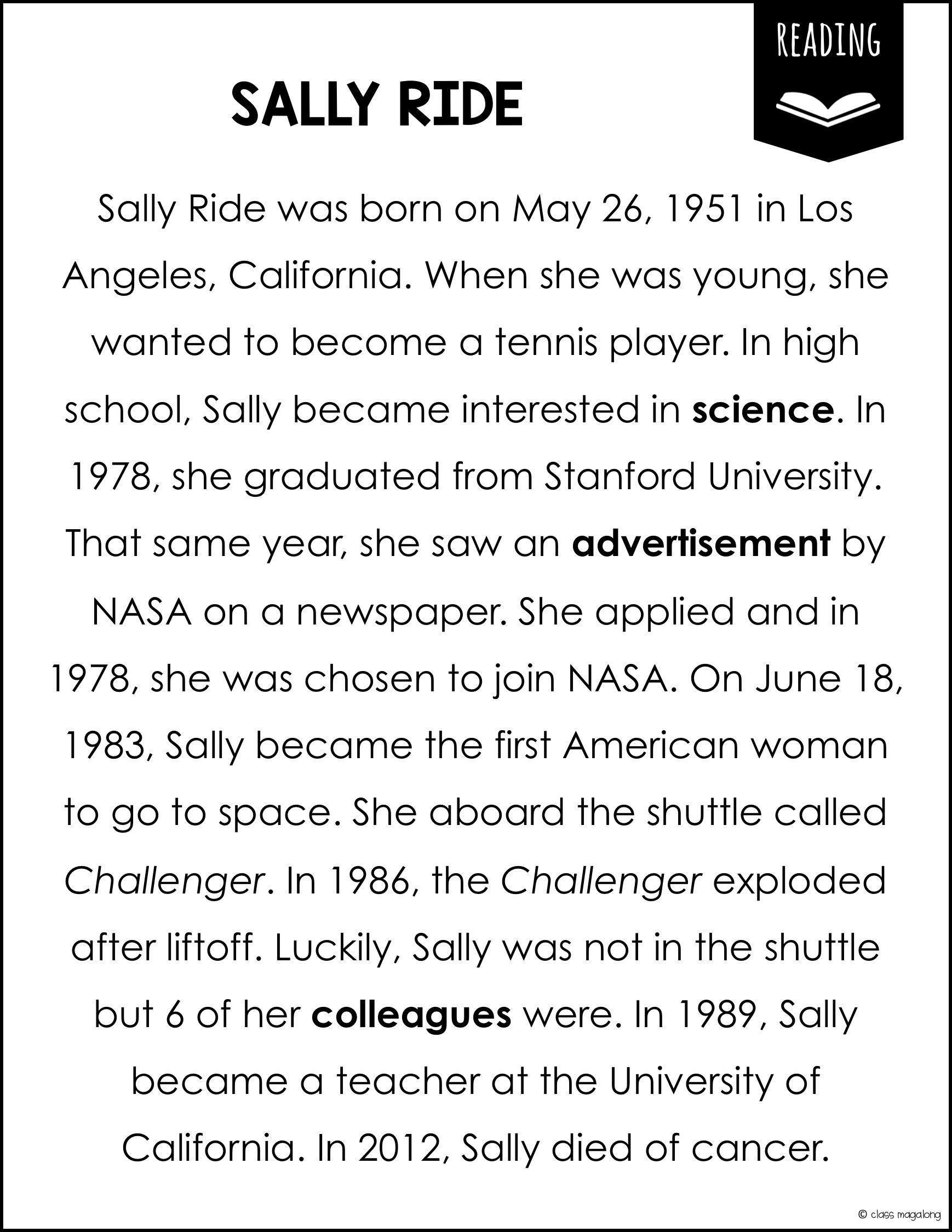 Sally Ride Biography Americans Sally Ride Sally Ride Biography Biography Project [ 2249 x 1738 Pixel ]