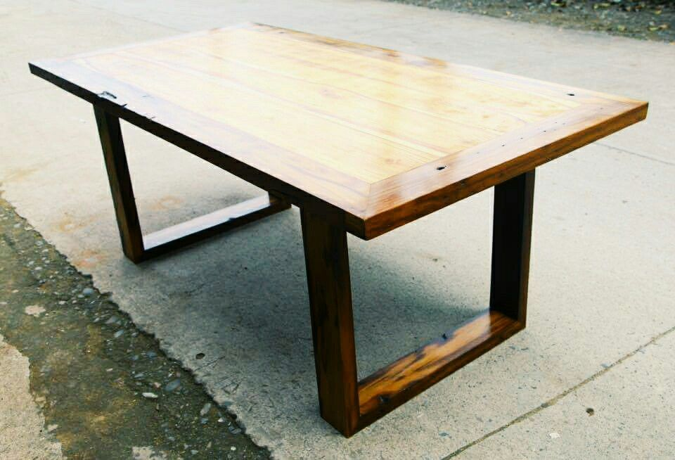 Six Sitter Dining Table Made In Yakal And Narra Wood Designed By