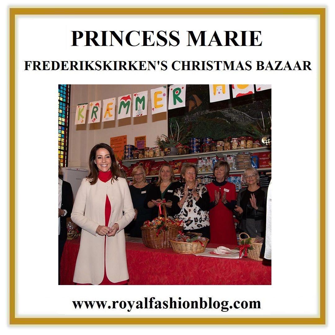 Princess Marie Opened The Danish Church Of Paris Christmas Bazaar Princess Marie Of Denmark Christmas In Paris Danish Royal Family