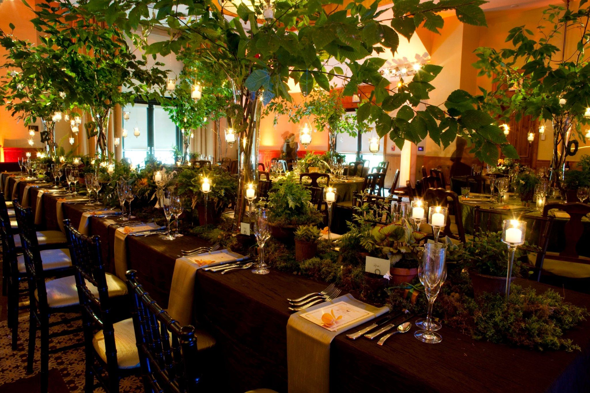 Bring the outdoors in with this rustic forest themed dinner at Stowe Mountain Lodge | Alpine ...