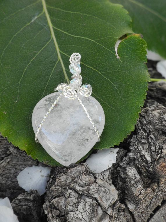 Reiki infused Clear Quartz Hearts. Give the by CrystalCorners, $50.00
