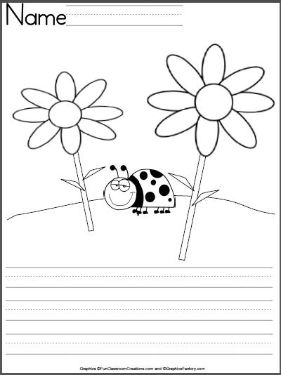 ladybug writing template for kindergarten classroom kindergarten writing pattern worksheet. Black Bedroom Furniture Sets. Home Design Ideas